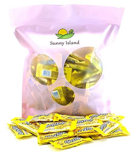Sunny Island Bulk - Wonka Laffy Taffy Fun Sized Bars Candy Chews Banana Flavored, Individually Wrapped Jokes, 2 Pounds Bag (Best Laffy Taffy Jokes Of All Time)