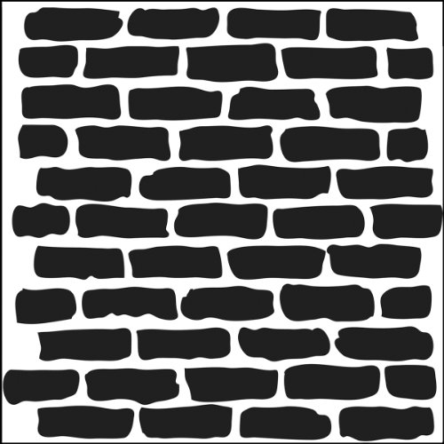 Crafters Workshop 494485 Crafter's Workshop Template, 6 by 6-Inch, - Brick Wall Stencil