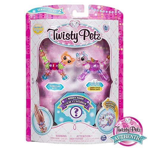 (Twisty Petz, Series 2 3 Pack, Bubblegum Kitty, Sugarstar Flying Pony & Surprise Collectible Bracelet Set for Kids)