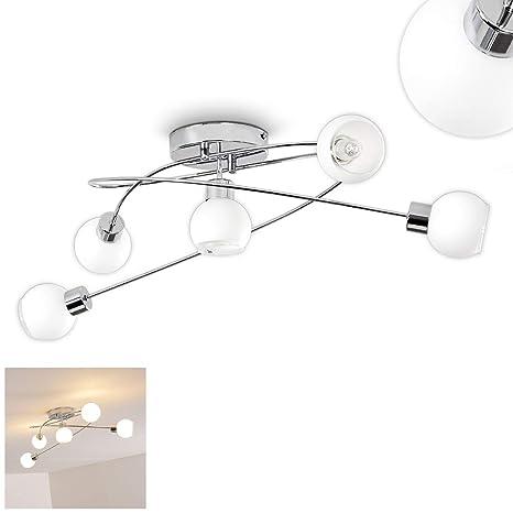 Lámpara LED techo de metal cromado - Habitaciones lámpara ...
