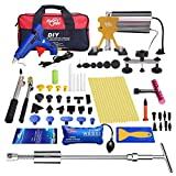 FLY5D 74 Pcs Car Body Paintless Repair Removal Tools Automotive Door Ding Dent Silde Hammer Glue Puller Repair Starter Set Kits