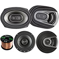 2x Polk Audio MM MM652 Series Ultra Marine Certified 6.5 2 Way Coaxial Car / Boat Speakers, 2x MM692 Marine 6x9 3 Way Car / Boat Speakers, Enrock Audio 16-Gauge 50 Foot Speaker Wire