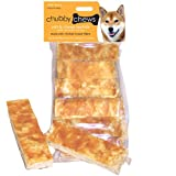 Chubby Chews Soft and Chewy Rawhide Treats with Real Chicken on Top 3-Inch Strip, 12-Piece Per Bag, My Pet Supplies