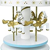 Peradix Carousel Music Box Wooden Merry Go Round Toy