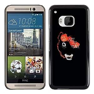A-type Arte & diseño plástico duro Fundas Cover Cubre Hard Case Cover para HTC One M9 (Resumen de la cara del lobo marino Animal)