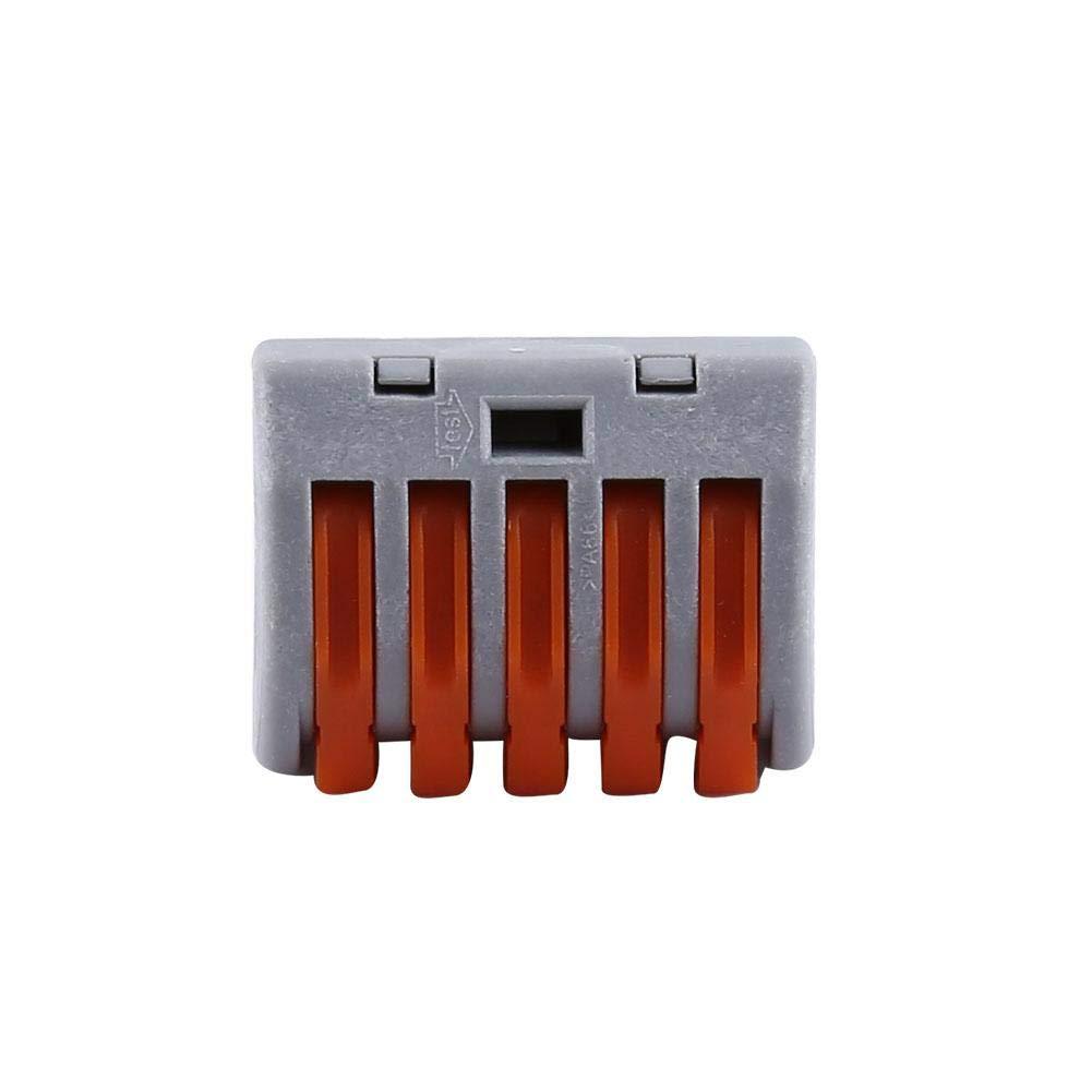 Barrettes de connexion /électriques Connecteur pour c/âble /électrique topincn /écrou /à ressort /à ressort Bornier fil transparent r/éutilisable haut grade de cuivre /électrolytique