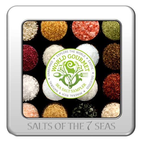 - The WORLD Gourmet Sea Salt Sampler Beautifully Presented in a Custom Embossed Tin