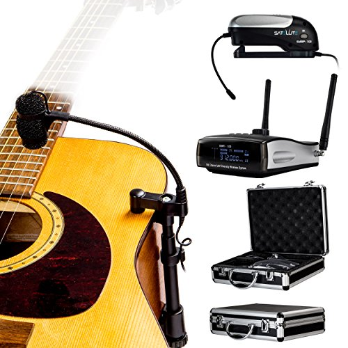 Nady CenterStage Satellite -AGM - 100 - Channel True Diversity Wireless Instrument System for Acoustic or Nylon String Guitar, with carrying case