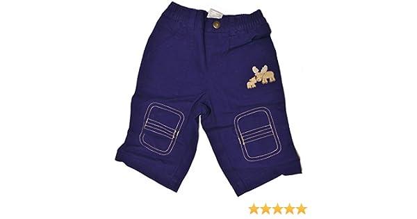 Gymboree Infant Baby Boy Moose Pants Navy Blue Reinforced Knees