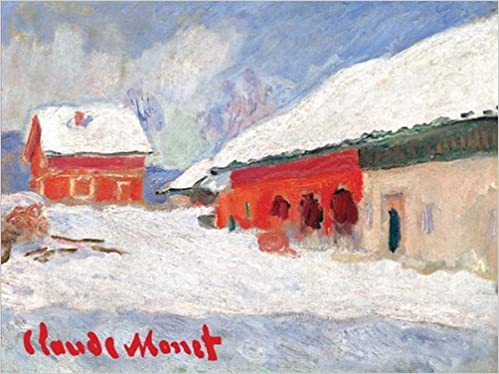 red barns in norway claude monet holiday cards