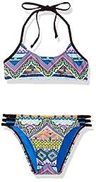 Hobie Big Girls\' Desert Daze Two Piece Bralette Hipster Bikini Swimsuit, Multi, 12