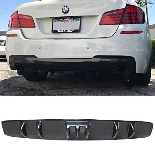 Rear Diffuser Universal Fitment | V5 Style Unpainted Black ABS Plastic Splitter Spoiler Valance Under Lip Body kit by IKON MOTORSPORTS