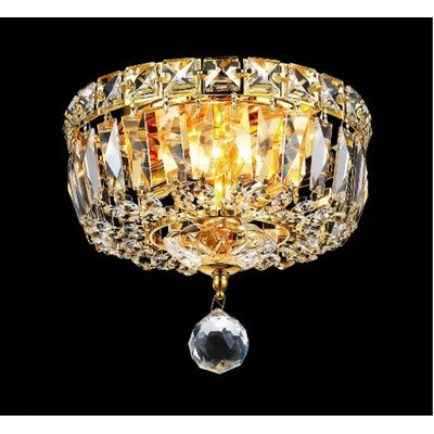Elegant Lighting Tranquil 7-Inch High 2-Light Chandelier