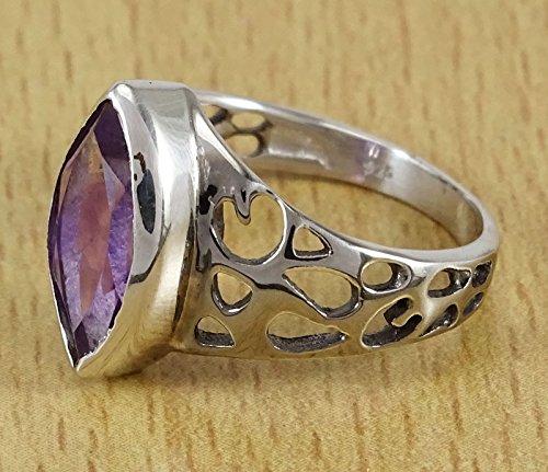 Banithani pureple pierre améthyste 925 argent massif bague artisanale de bijoux