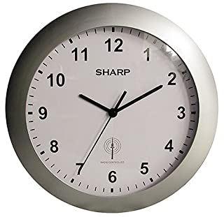 Sharp SPC890 Quartz Analog Atomic Wall Clock SPC890, with Silver Case Convex Glass Lens and Sets Automatically (B00006IBIO) | Amazon price tracker / tracking, Amazon price history charts, Amazon price watches, Amazon price drop alerts