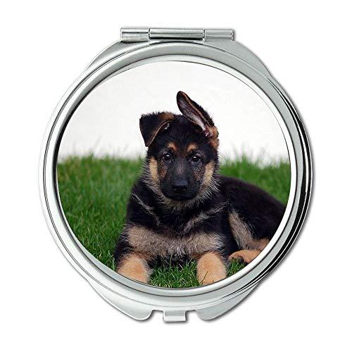 Mirror,Small Mirror,Animal Bull Terrier Dogs dog b q,pocket mirror,1 X 2X -