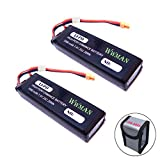(US) Wwman 2pcs 7.4v 3000mah 25C Li-poly Upgrade Batteries with Explosion-proof Bags for MJX B3 Bugs 3 Force1 F100 Contixo F17 RC Drone Spare Parts