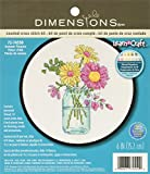 #3: Dimensions Summer Flowers Counted Cross Stitch Kit, 72-74550