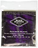 Black Diamond N600LB Phosphor Bronze Black Coated Acoustic Guitar Strings, Light