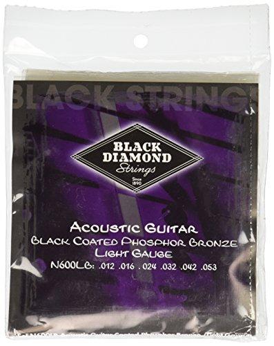 Black Diamond N600LB Phosphor Bronze Black Coated Acoustic Guitar Strings, ()