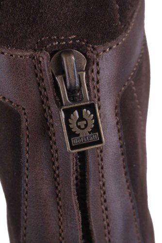 Brown 26 Leather Boots Ladies Brown Size Shoes Genuine Belstaff 37 qwvOZX7xx