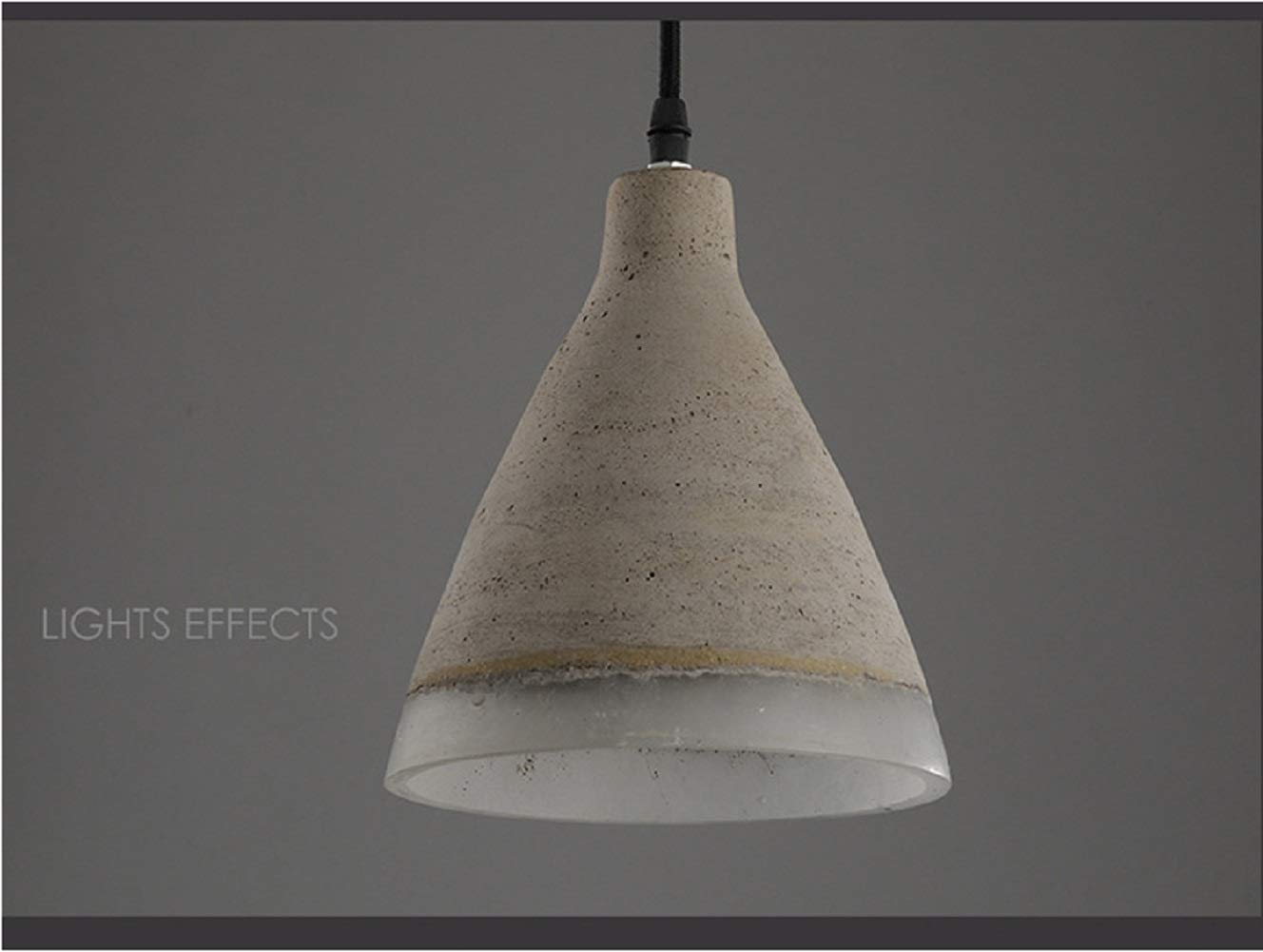 Moontang Vintage Cement Light Hängeleuchte, Motent Industrial Modern Minimalistische Deckenleuchte Hängelampe Concrete Chandelier Schirm - Do