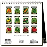 Found Image Press Seed Packets 2018 Easel Desk Calendar