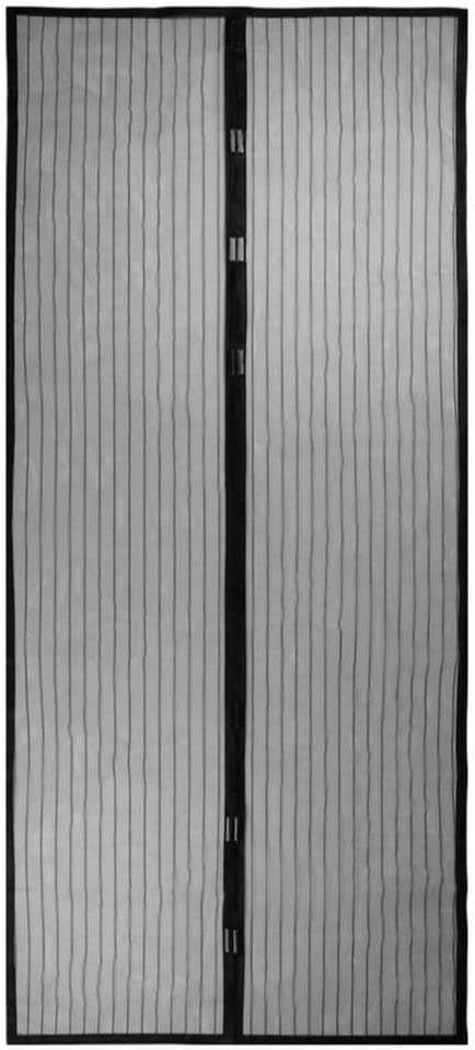 2020 verano familia práctica mosquitera antimosquitos magnética de alto grado cierra automáticamente la pantalla de la puerta cortina de cocina negro M2 W 90 x H 210 cm