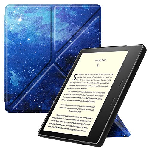 Fintie Origami Case for All-New Kindle Oasis (10th Generation, 2019 Release and 9th Generation, 2017 Release) - Slim Fit Stand Cover Support Hands Free Reading with Auto Wake Sleep, Starry Sky