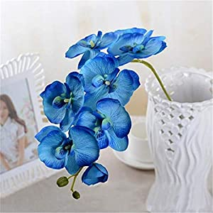 JONARO 3PCS Fashion Orchid Artificial Flowers DIY Artificial Butterfly Orchid Silk Flower Bouquet Phalaenopsis Wedding Home Decoration 45