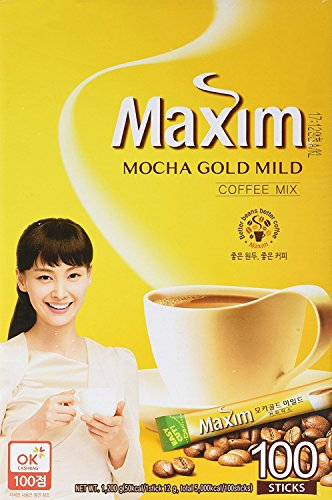 Maxim Coffee Mix, Instant Coffee (11.8 g / pk) (Mocha Gold Mild, 100 pk x 2)