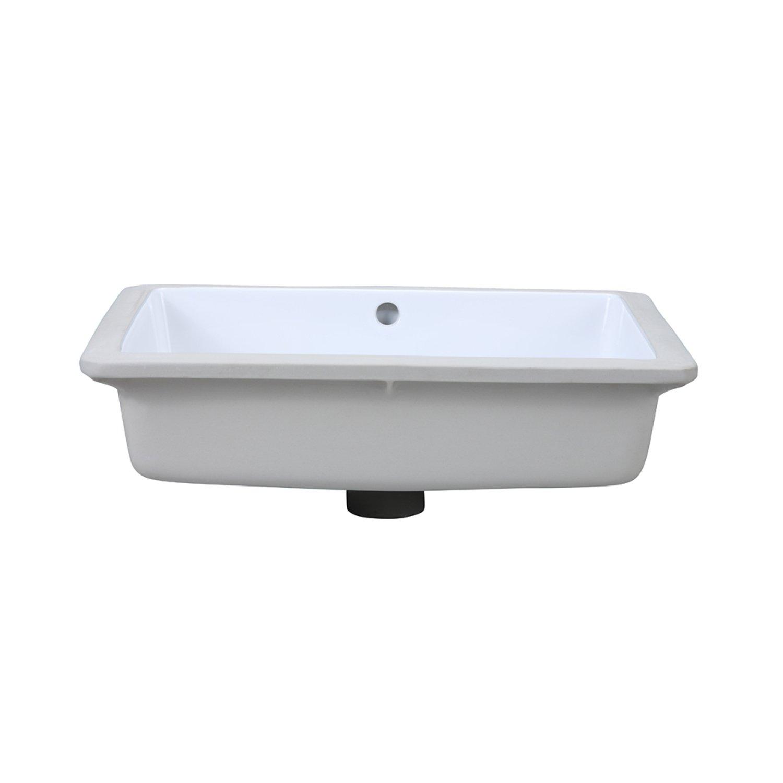 DECOLAV 1482 CWH Lilli Classically Redefined Rectangular Undermount  Lavatory Sink, White   Vessel Sinks   Amazon.com
