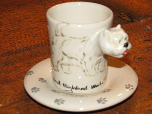 3D ceramiche Blue Witch Hi-Life Living Nature West Highland White Terrier Tazza Caffe Espresso