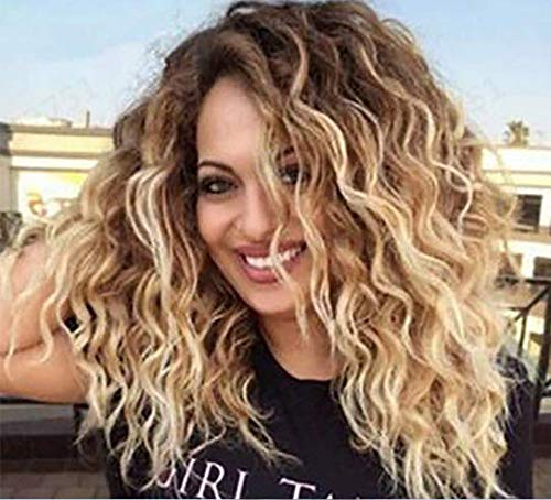 Black Gold Curly Hair Wig Human Hair Brazilian Lace Front Human Hair Wigs With Baby Hair Pre Plucked Bleached Knots (A)