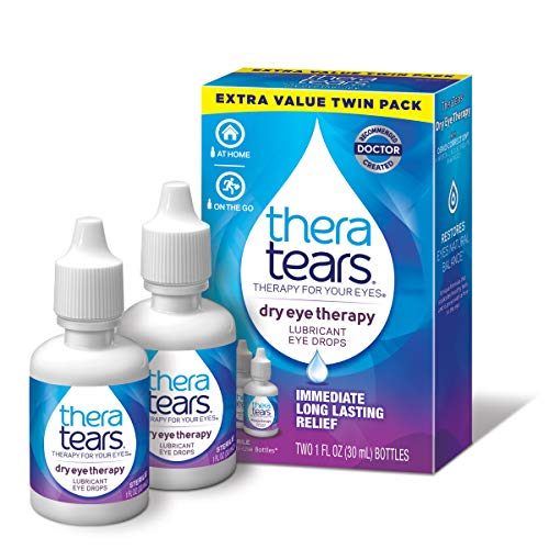 TheraTears Eye Drops for Dry Eyes, Dry Eye Therapy Lubricant Eyedrops, Twin Pack, 30mL 1 Fl oz Each (Packaging may vary)