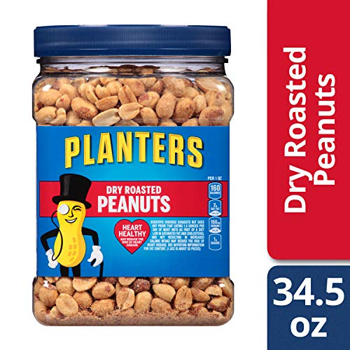 (Planters Dry Roasted Heart Healthy Peanuts (34.5 oz Canister))