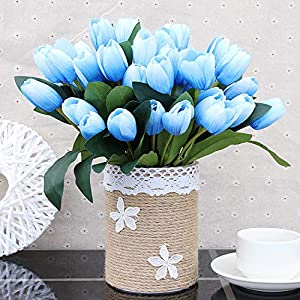 Fake Tulip Flower 9 Heads Artificial Flower Decorative Bouquet for Home Decor Wedding Holding Flowers 22