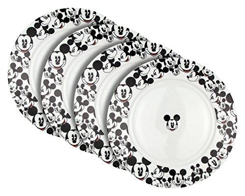 Disney All Over Mickey Salad Plate, Set of 4 (Disney Dinnerware)