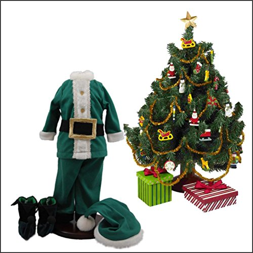 The Queen's Treasures Complete Night Before Christmas Costume Pajama Doll Clothing Outfit & Christmas Tree Set. Doll Clothes & Accessories are Sized Perfectly For 18 Inch American Girl Dolls.