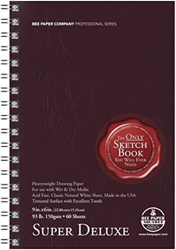 Bee Paper Super Deluxe Sketch Pad, 6-Inch L by 9-Inch H]()