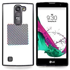 - Raster Art Print Minimalist White/ Duro Snap en el tel????fono celular de la cubierta - Cao - For LG Volt 2 / LG G4 Mini (G4c)