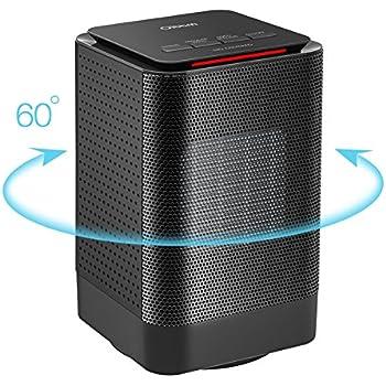 Marvelous Portable Ceramic Heater, Oittm Electric Oscillating Heater Mini Space Heater  Personal Heater Fan 450W/