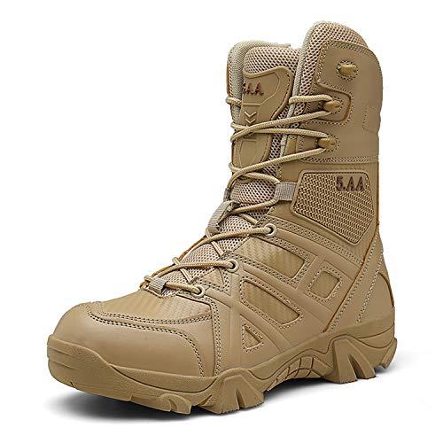 c4d4291829b PULUSI Men's Waterproof Tac Force Combat Military Tactical Work Boots(Size  45,Khaki)