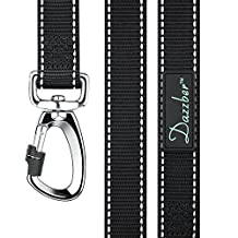 Dazzber Reflective Durable Dog Leash - Heavy Duty - No Tangle Dog Walking Leash with Safety Latch for Large/Medium Dogs