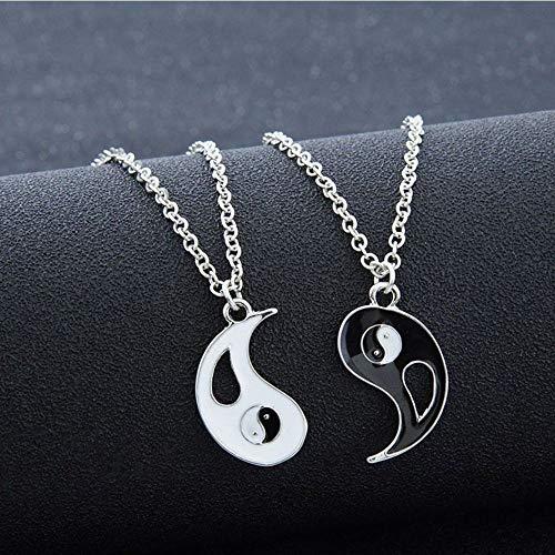 (Pretty Pendant 1Set Charm Best Gift Unisex Necklaces Ying Yang Bagua Taiji)