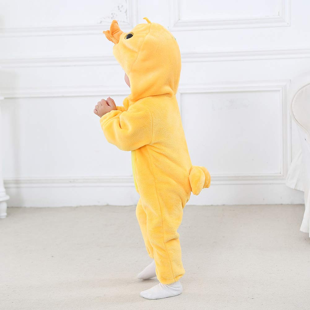 Happy Cherry Grenouill/ère D/éguisement Animal B/éb/é Halloween Carnaval Combinaison Pyjama Fille Gar/çon V/êtement Flanelle Hiver Chaud 3-24 Mois