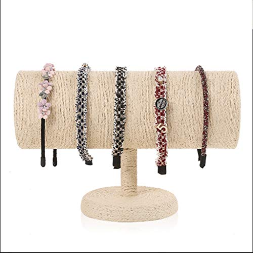 Qingmu Jewelry Tiara Storage Display Rack Hanging Hair Ring Hairpin Head Rope Hoop Rack Column Jewelry Props (Color : Black) ()