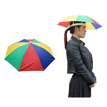 C360 elástica banda Golf Pesca Camping Headwear Cap paraguas plegable sombrero para el sol y la