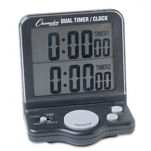 Champion Sports : Dual Timer/Clock with Jumbo 1 Display -:- Sold as 2 Packs of - 1 - / - Total of 2 Each