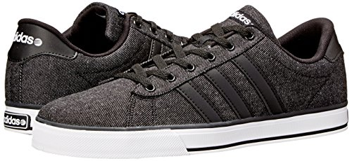 low priced f4ecc 7f6dc adidas NEO Mens SE Daily Vulc Lifestyle Skateboarding Shoe,BlackBlack White,